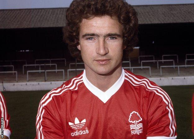 Martin O'Neill pictured when he was a Nottingham Forest player
