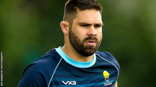 Scotland international Cornell du Preez was injured just five minutes into his Worcester Warriors debut against Wasps