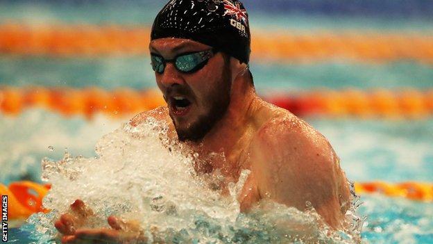 Ross Murdoch competes in the 100m breaststroke during the recent Edinburgh International Swim meet