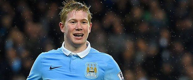 Man City attacking midfielder Kevin de Bruyne