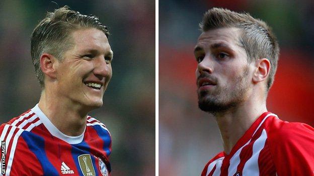 Bastian Schweinsteiger and Morgan Schneiderlin