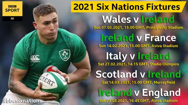 The fixture list for the 2021 Six Nations has also been released