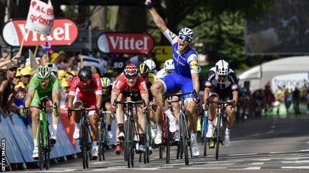 Marcel Kittel wins stage six in Troyes