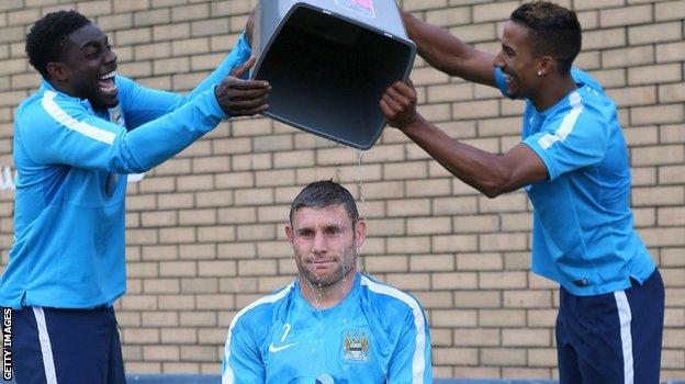 Milner does the ice bucket challenge