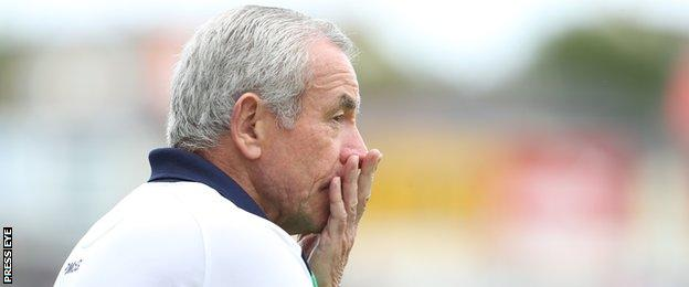 Peter McGrath watches as his Fermanagh team wilt in the closing stages of the Ulster semi-final
