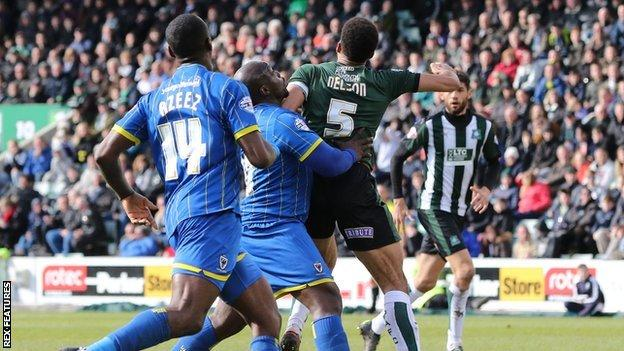 Adebayo Akinfenwa had not scored for Wimbledon in over four months -since 28 November
