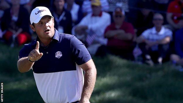 Patrick Reed at the Ryder Cup in 2016