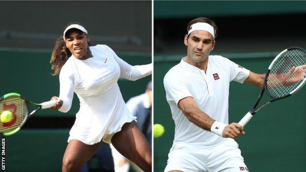Wimbledon 2018 Roger Federer Serena Williams Rafael Nadal Play On Manic Monday Bbc Sport