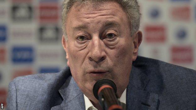 Interim Argentine FA president Luis Segura