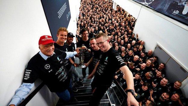 Mercedes celebrate title