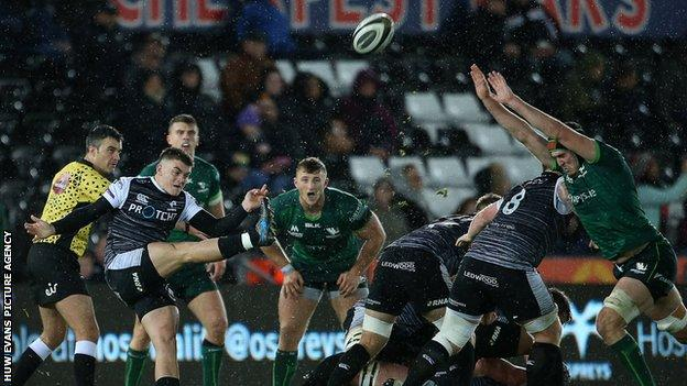 Ospreys lost 20-10 to Connacht in their last Pro14 match at the Liberty Stadium in November 2019
