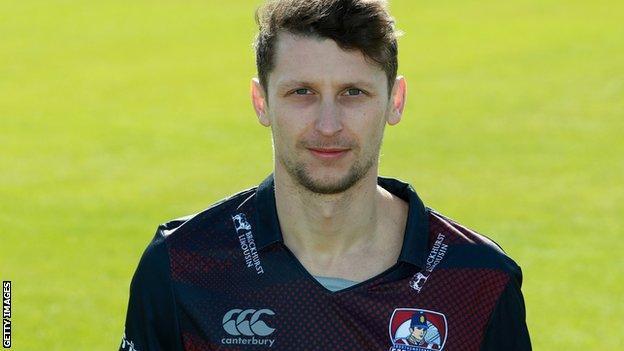 Northamptonshire fast bowler Jack White