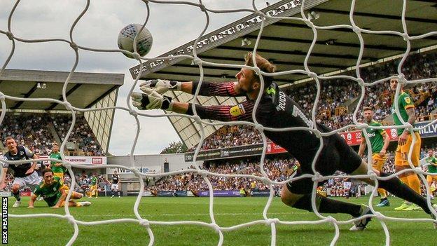Jed Wallace's volley screams past Declan Rudd