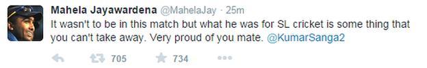 Mahela Jayawardene on Twitter