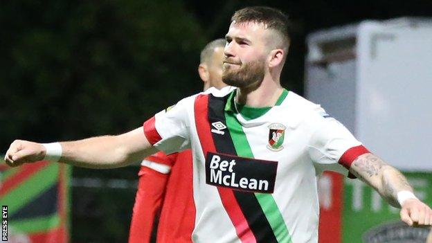 McClean has impressed since joining Glentoran in the summer