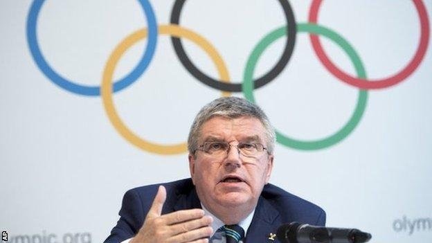IOC president Thomas Bach indicated Russian athletes could still compete in Rio despite the IAAF ban