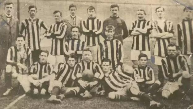 William Manning (back row, far right) was part of the Antrim team that reach two All-Ireland finals