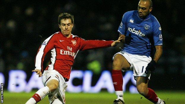 Arsenal take on Portsmouth