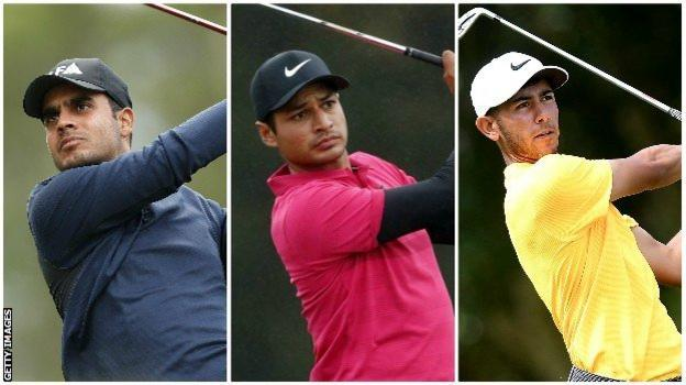 India's Shubhankar Sharma, United States golfer Julian Suri and England's Jack Singh Brar