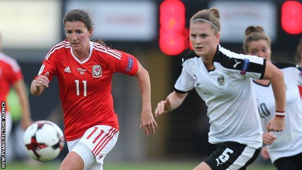 Helen Ward against Austria