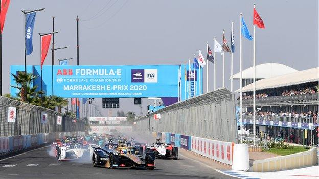 Marrakesh staged Africa's only E-Prix race on 29 February