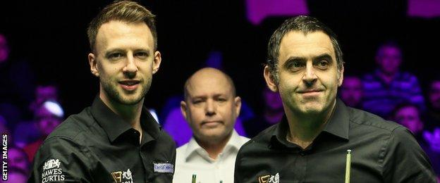 Trump and O'Sullivan also contested the 2018 NI Open final