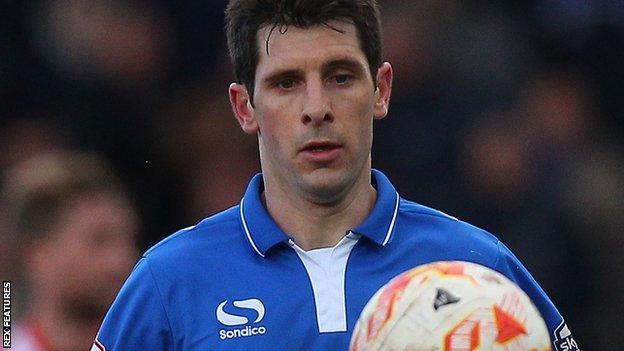 Portsmouth midfielder Danny Hollands