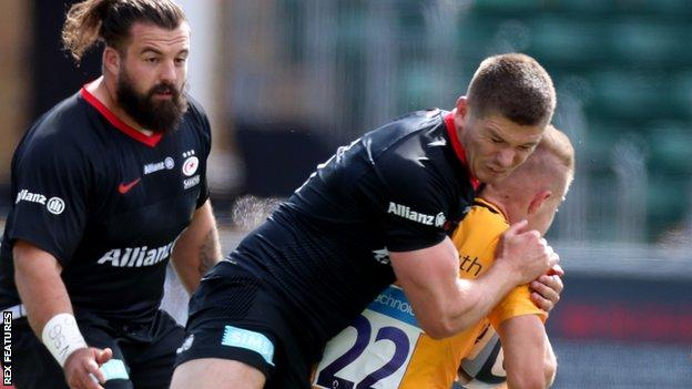 Premiership: Saracens 18-28 Wasps - Owen Farrell sent off as Sarries lose -  BBC Sport