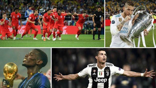 England World Cup squad, Real Madrid's Sergio Ramos, France's Paul Pogba and Juventus' Cristiano Ronaldo