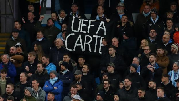 Manchester City fans show support for club over Uefa ban thumbnail