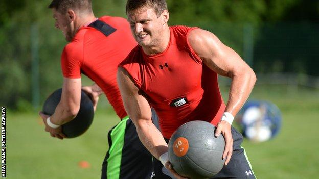 Dan Biggar in Wales' Rugby World Cup training camp in Switzerland