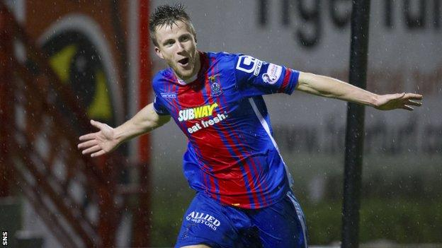 Inverness Caledonian Thistle midfielder Liam Polworth