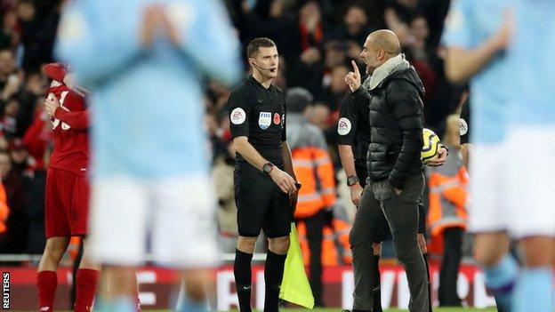 Pep Guardiola to face no action after Manchester City's defeat by Liverpool