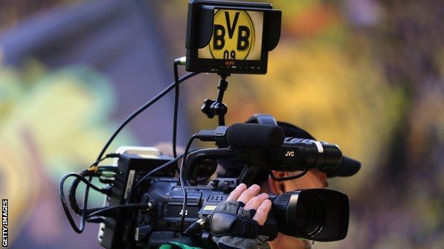 Television camera at Westfalenstadion
