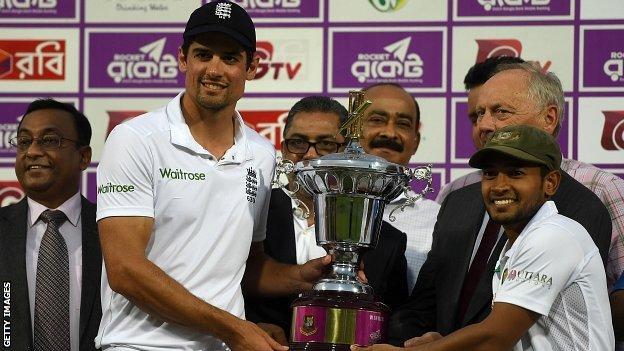 Captains Alastair Cook and Mushfiqur Rahim