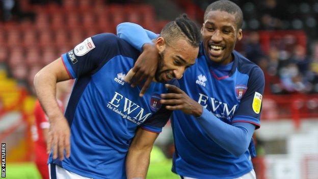 Rhys Bennett scores Carlisle's opening goal