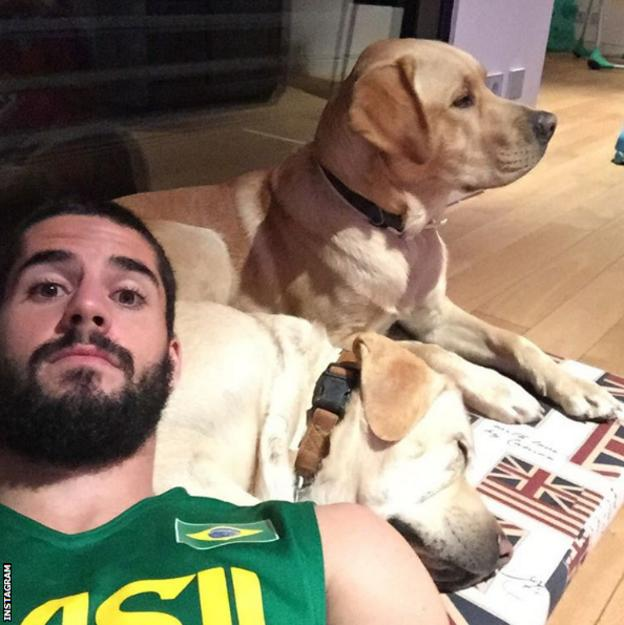 Isco likes to spend time with his dog, who is named Messi