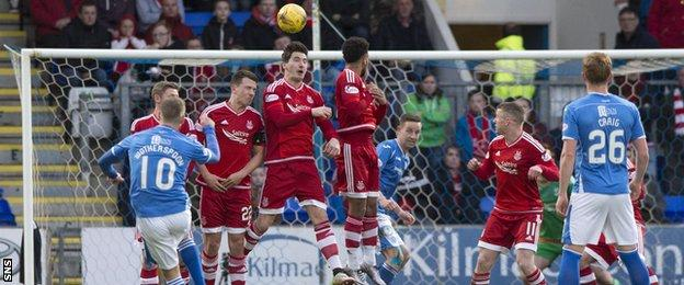 David Wotherspoon scores for St Johnstone against Aberdeen