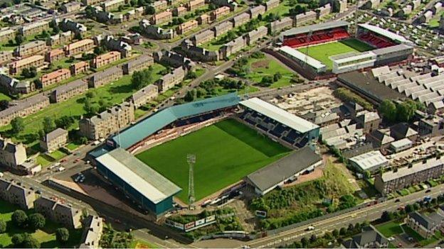 Dundee FC and Dundee United FC grounds