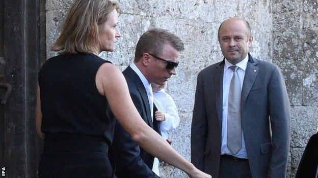 Kimi Raikkonen arrives