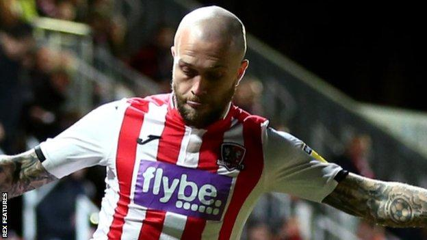 Exeter City midfielder Nicky Law