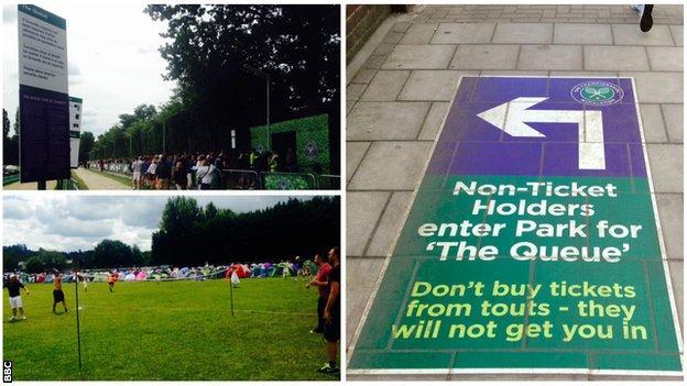 Wimbledon queues