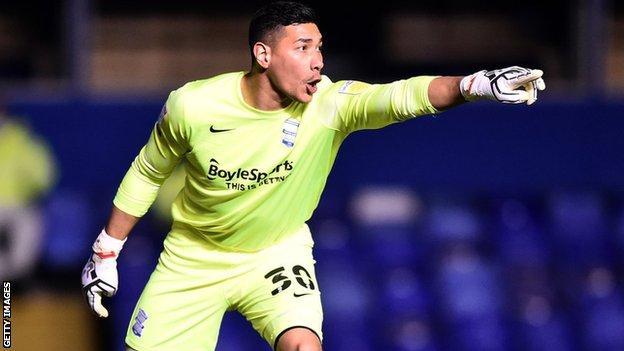 Birmingham City goalkeeper Neil Etheridge