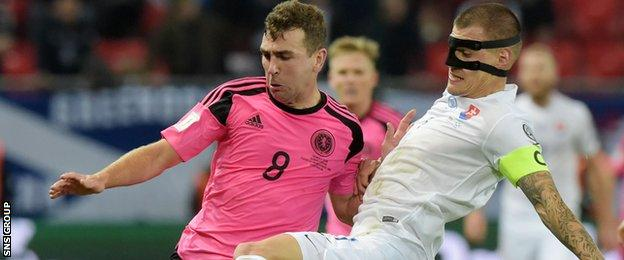 Scotland midfielder James McArthur
