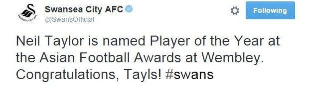 Swansea tweet