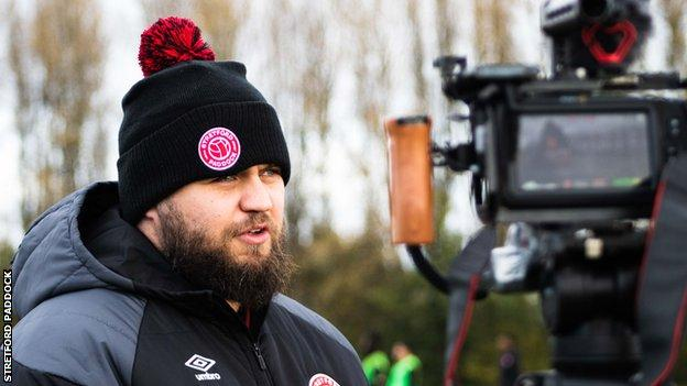 Stephen Howson talks to the camera