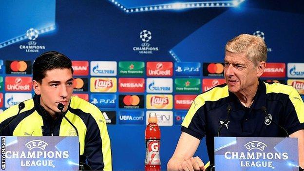 Bellerin and Wenger