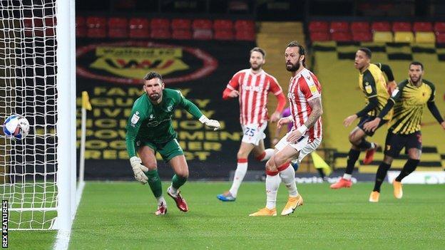 Steven Fletcher scores for Stoke