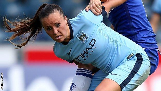Wales and Manchester City forward Natasha Harding