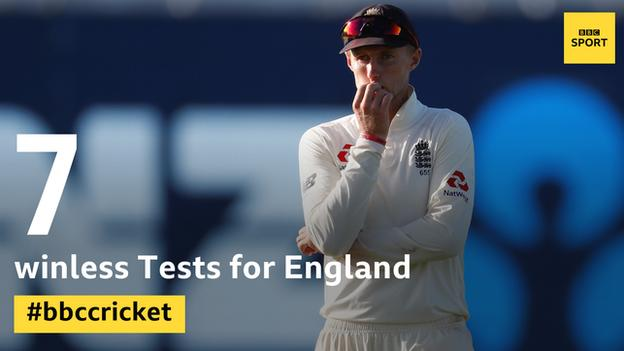 England graphic showing they have not won any of their past seven Tests